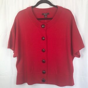 Style & Co. Red short sleeve sweater Size XL